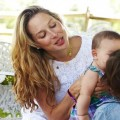 Tata Harper with kids interview natural skincare