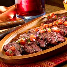Argentine Grilled Steaks with Criolla Sauce