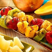 Caribbean Fruit Skewers