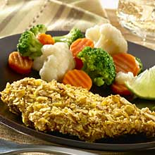 Crunchy Plantain Crusted Chicken