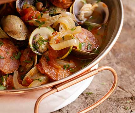 Clams & Sausage in a Cataplana-FeaturePhoto