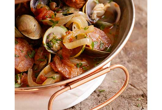 Clams & Sausage in a Cataplana-MainPhoto