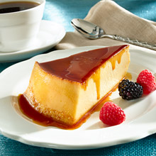 Goya-Caramel Topped Cream Cheese Custard