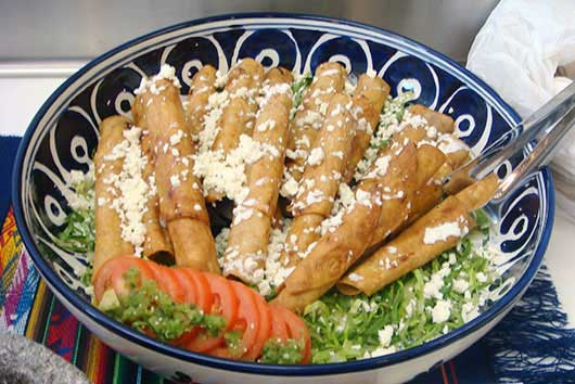 Chefs Heat Up San Antonio-Chicken Flautas