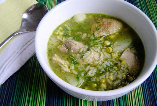 Peruvian Chicken Cilantro Soup-MainPhoto