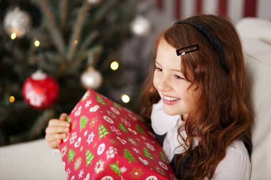 Gifts teach kids giving
