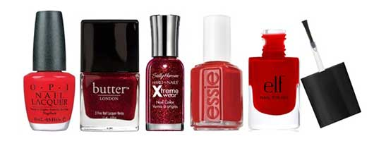 Top Nail Colors for the Holidays-Red