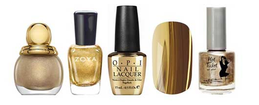 Top Nail Colors for the Holidays-Gold