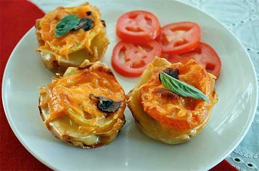 Sausage Mushroom Lasagna Cupcakes-MainPhoto