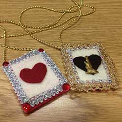 Valentine's DIY Crafts: Magic Heart Wand & Candy Pouch Necklace