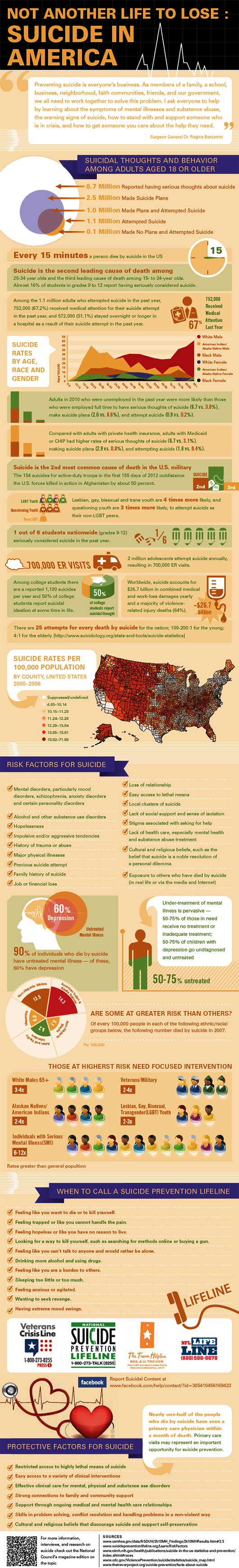 Suicide in America Infographic