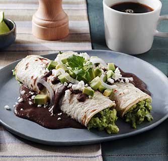 Avocado Inspirations Part 1-Enfrijoladas With Avocado & Queso Fresco