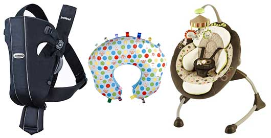 Baby Gear to Help a Work-at-Home Mom Get the Job Done!-Cozy Coo Sway Seat, mombo, Baby Bjorn