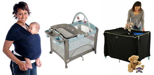 Baby Gear to Help a Work-at-Home Mom Get the Job Done!-Moby Wrap, Playard,