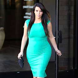 Kim Kardashian: Glowing in Green-Celebrity Baby Scoop
