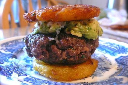 Guacamole Burger Sliders with Tostones-MainPhoto