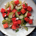 Watermelon & Tomatillo Salad with Feta Cheese