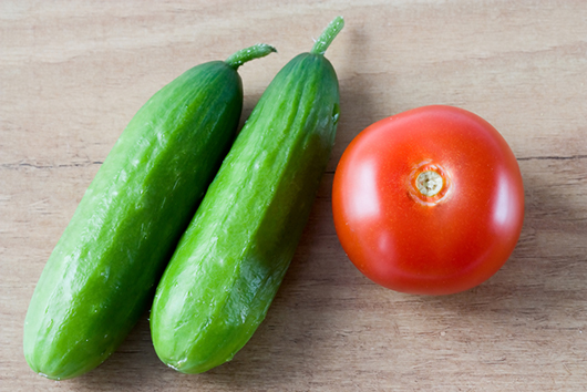 Tomatoes and Cucumbers with Sherry Vinaigrette-MainPhoto