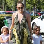CelebScoop-JLo takes a stroll with her 5-year old twins-MainPhoto