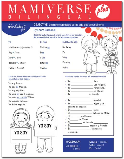 Printables Bilingual Worksheets bilingualplus downloadable spanish worksheet 4 for kids page 2 bilingual plus mainphoto