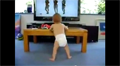 Baby dancing to Beyonce.