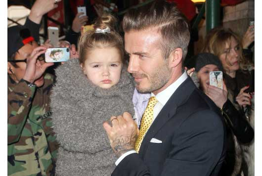 David Beckham & Daughter, at NYC Fashion Week-MainPhoto