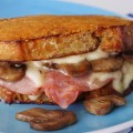 Grilled Cheese with Cotija, Ham & Mushrooms-SliderPhoto