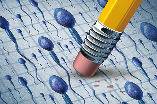 sign of male infertility