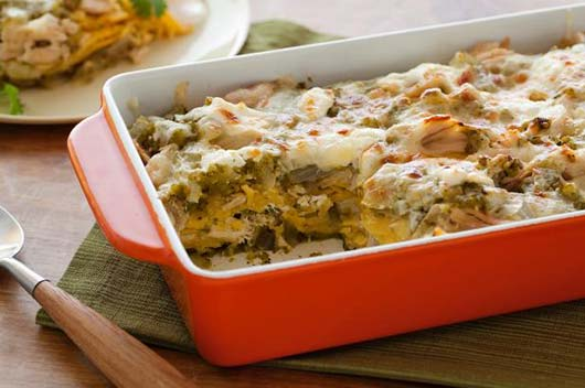 Rachael-Ray's-Roast-Chicken-Enchilada-Suizas-Stacked-Casserole-MainPhoto