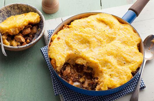 A Latin Twist on Shepherd's Pie Chicken Tamale Pie-MainPhoto